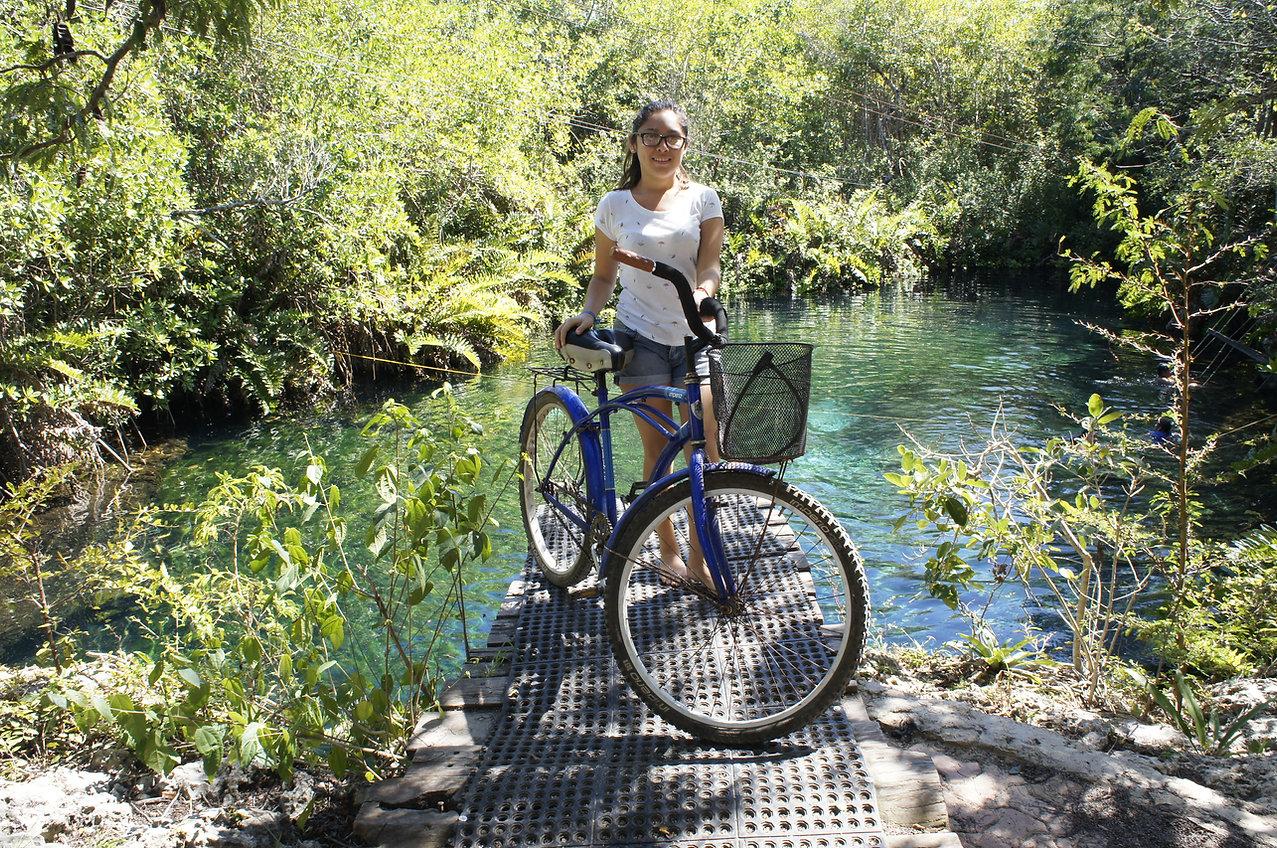 Biking to the cenotes