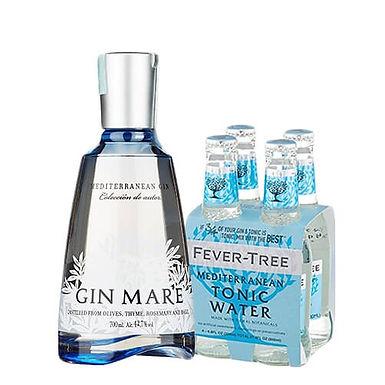 "Gin Mare (0.7l) & Tonic Water ""Mediterranean"" – Fever-Tree (4X200ml)"