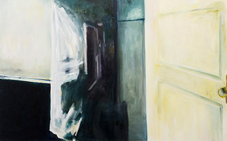 Painting of a Wall, Mirror and Door