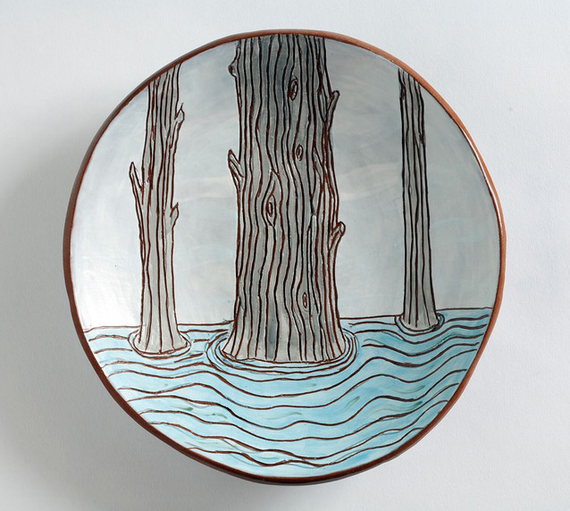 Three Trees plate