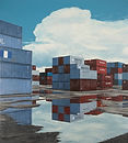 Container #4 2014. Oil on canvas. 60X54.