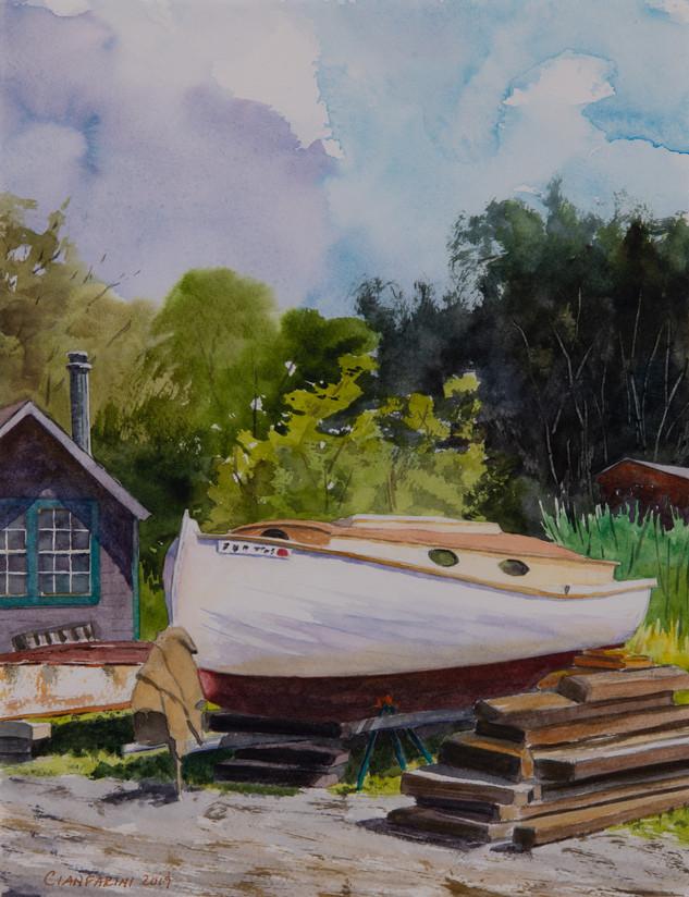 High noon, Essex boatyard