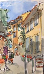 Italian Village Sketch