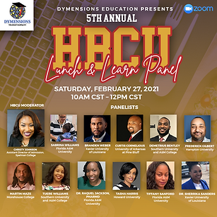 HBCU Lunch and Learn Panel Speakers Soci
