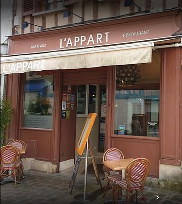 "Bon d'achat 57.5€ - ""L' Appart"" - Restaurant"