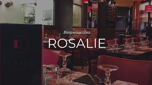 "Bon d'achat 57.5€ - ""Rosalie Grill "" - Restaurant"