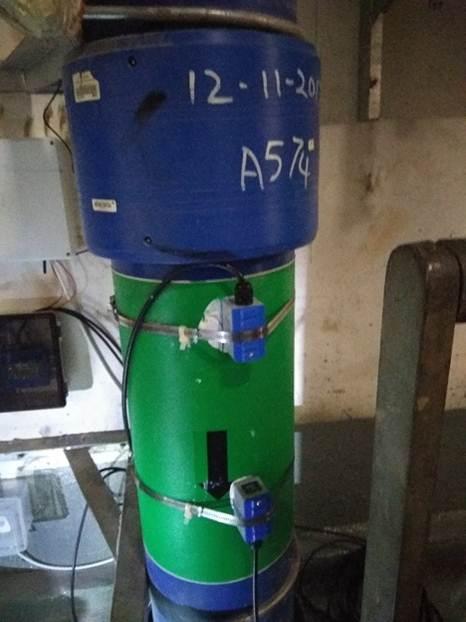 Water Pipe Flow Rate Measurement