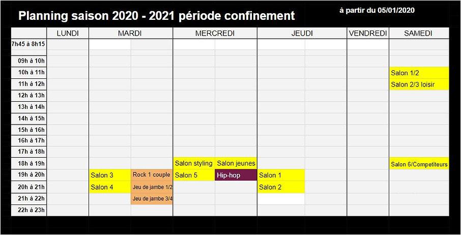 2021, Planning à la non ouverture de l'é