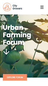 Bloggar & forum website templates – Urban Farming Forum