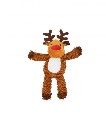 Snuggly Moppy Reindeer Squeaky Soft Toy