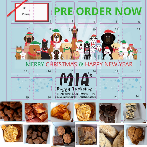 Mia's Natural Dog Treat Advent Calendar