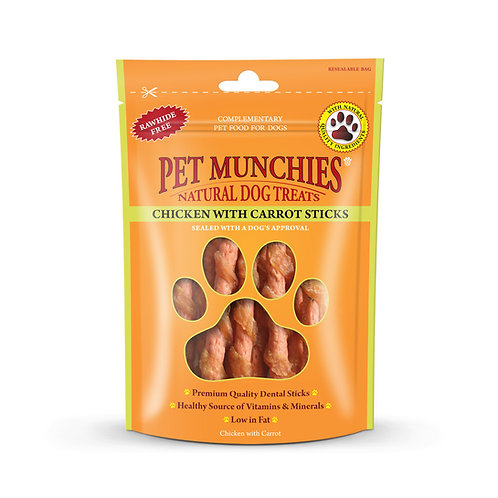 Pet Munchies Chicken & Carrot Natural Dog Treats