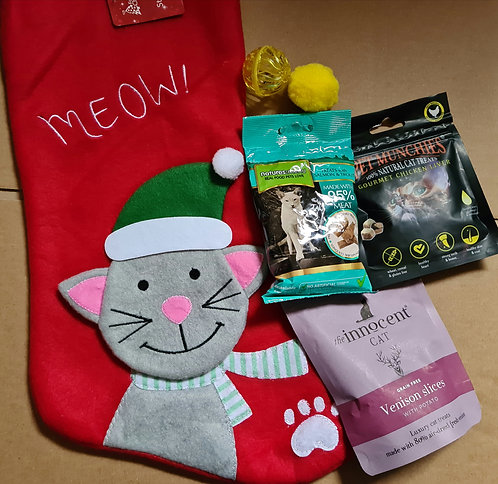 Cat Christmas Stocking and Natural Treats