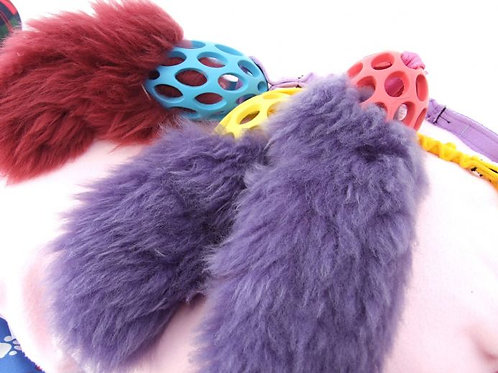 Sheepskin Bungee Tuggy with Holee Ball