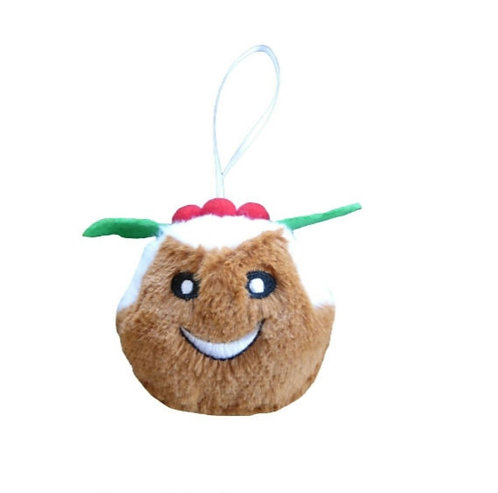 Christmas Bauble Squeaky Christmas Pudding