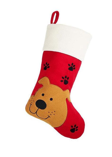 Deluxe Plush Dog Christmas Stocking