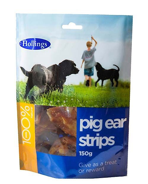 Hollings Pig Ear Strips 150g Pack