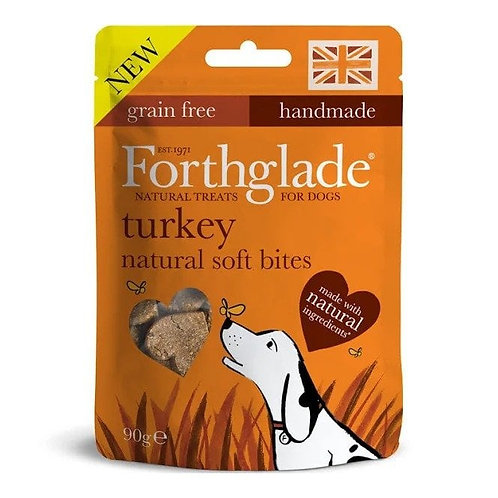 Forthglade Natural Soft Bites Turkey With Botanicals 90g Treats