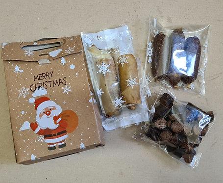 Christmas Gift Box with Festive Treats
