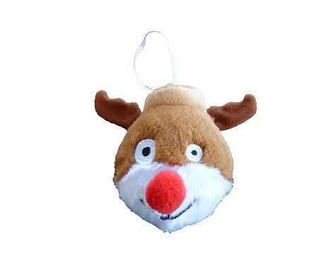 Christmas Bauble Squeaky Reindeer