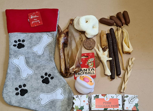 Customisable Stocking with Natural Dog Treats