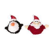 Christmas Squeaky Moppy Ball