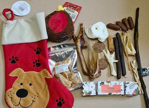 Deluxe Christmas Stocking with Natural Chews