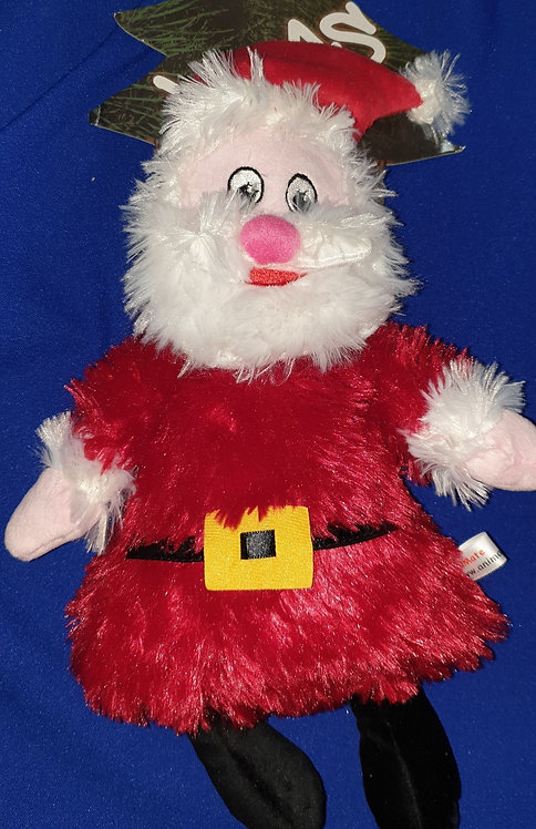 Animate Plush Soft Squeaky Christmas Toy - Santa