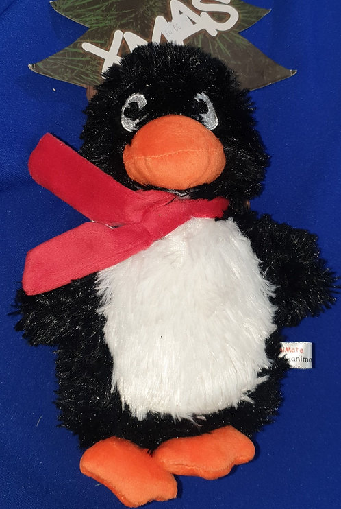 Animate Christmas Penguin Soft Squeaky Toy