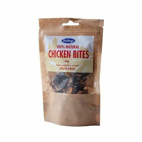 Hollings 100 Natural Grain Free Chicken Bites 60g