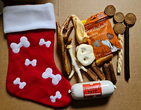 Large Christmas Stocking Filled with Natural Treats