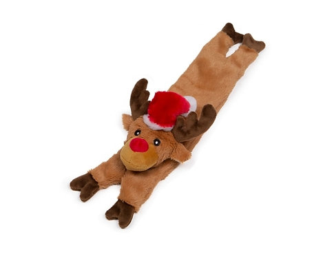 Christmas Stuffed Head Squeaky Reindeer