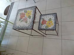 mesa dupla quadrada