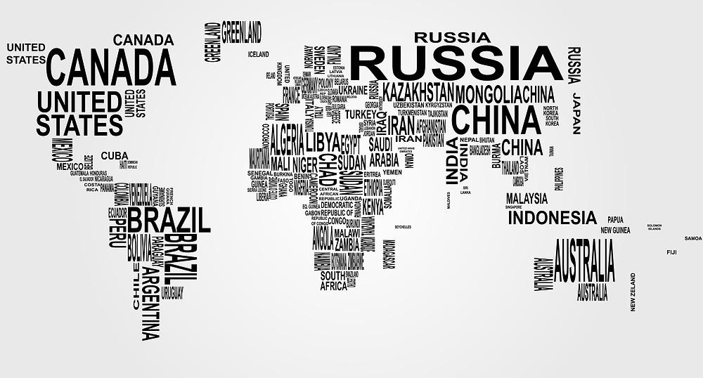 Aprendizagem Ativa no Mundo e tamanho dos países