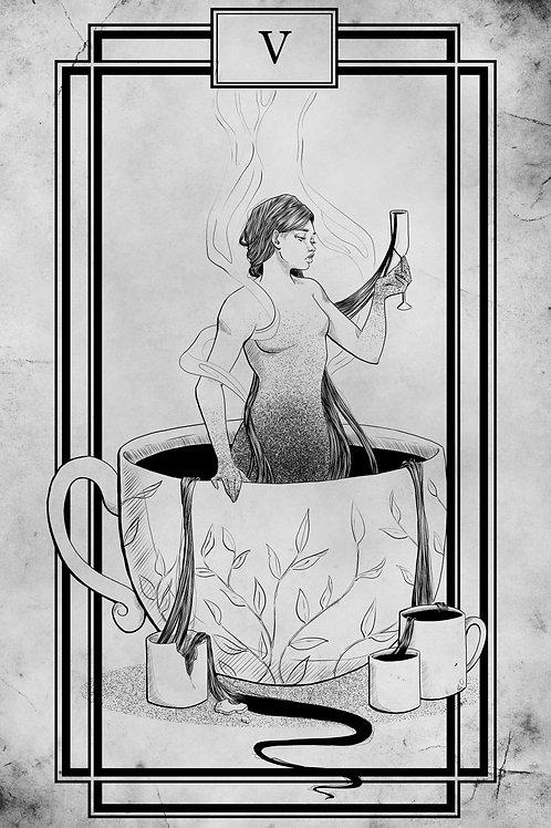 Tarot - Five of Cups - 11x17 Print