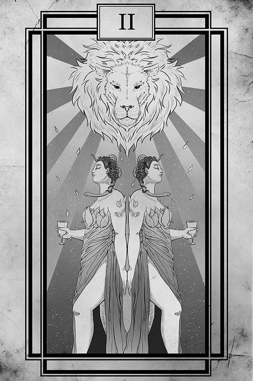 Tarot - Two of Cups - 11x17 print