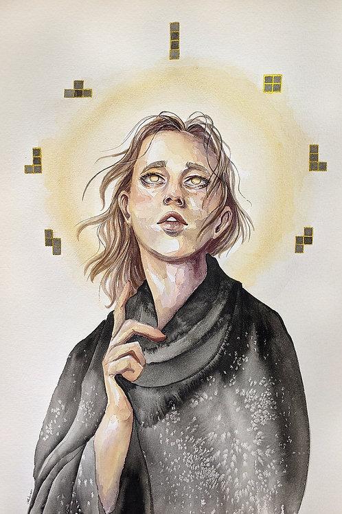 Patron Saint of Tetris - 11x17 FOIL edition print