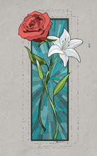 Rose Lily Stained Glass Commission