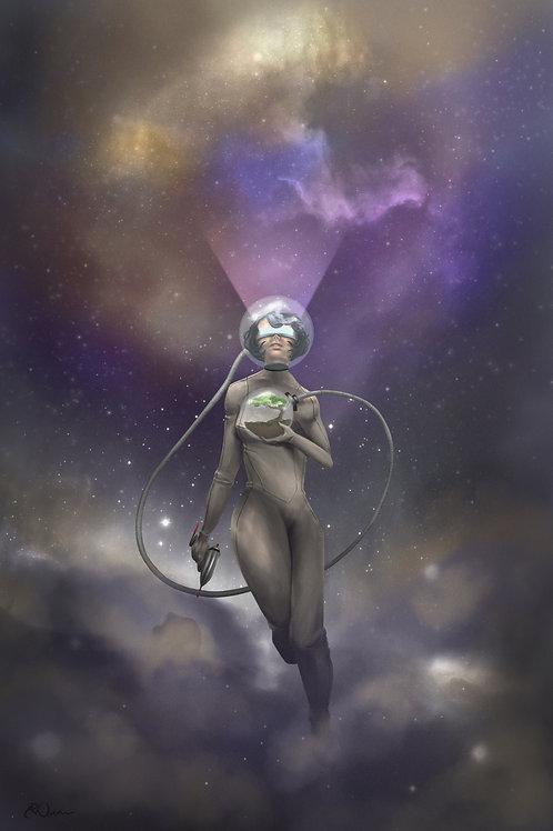 Echo in Space - 11x17 print