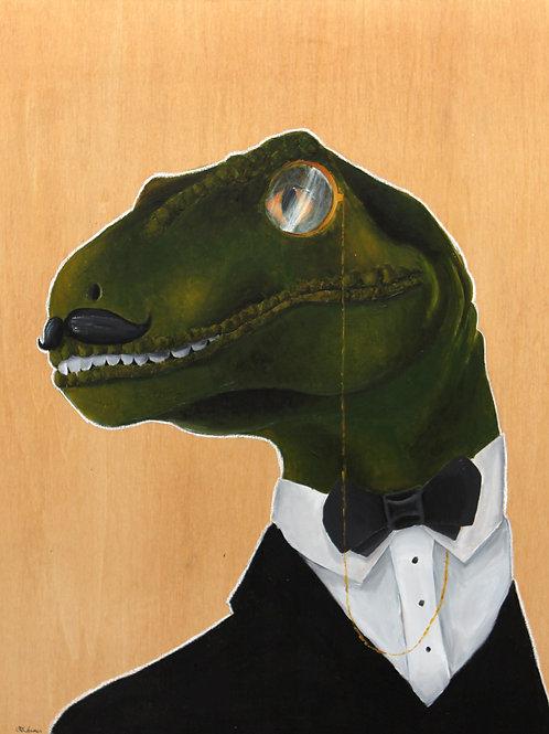 Dapper Velociraptor - 11x14 print