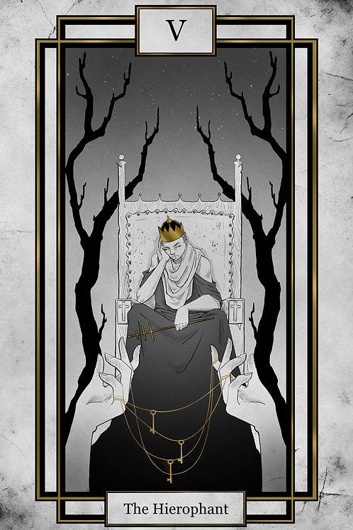 The Hierophant -11x17 FOIL print