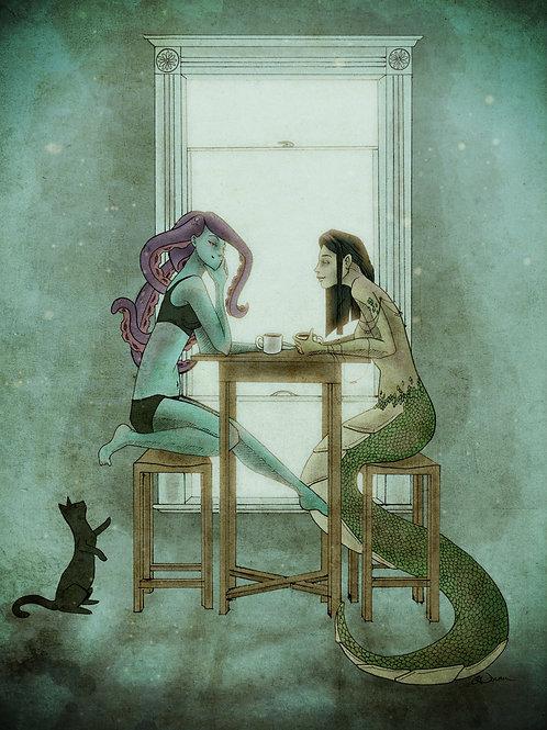 Monster Girlfriends - 11x14 print