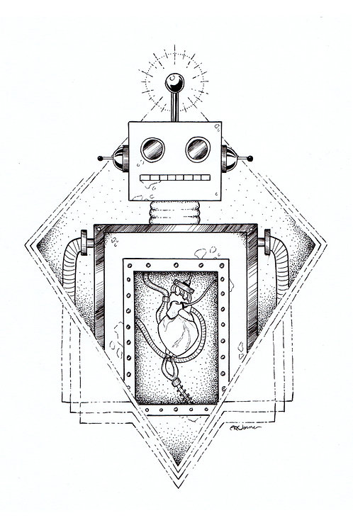 Robot in Love - 11x17 print