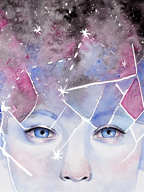 Stars in her eyes - 11x14 print