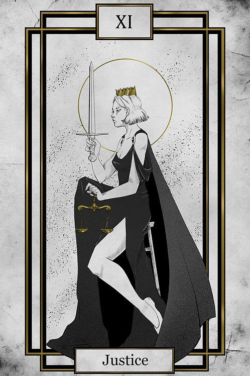 Tarot - Justice - 11x17print