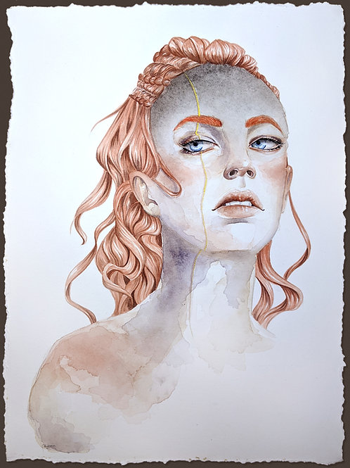 Autumn - Original Art - Watercolor Painting - 11x15