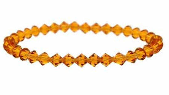 Golden Brown Swarovski Elements Stretch Bracelet