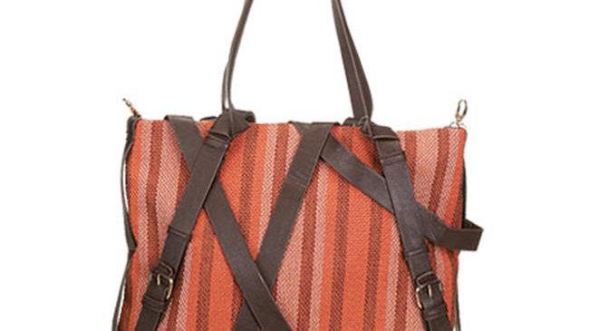 Aryana Chic Orange Criss Crossbody Adjustable Strap Womens Tote Bag