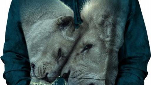 WHITE LIONS LOVE - XL