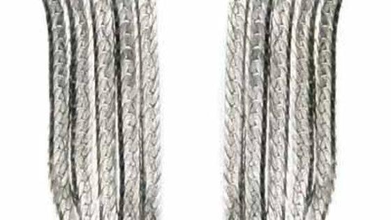 Sterling Silver 5 Row Dangle Chandelier Earrings